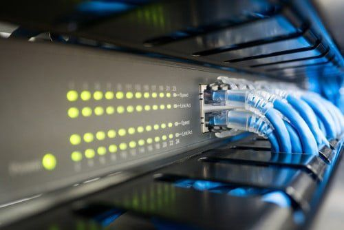 Business Technology Infrastructure - Networking and Server Rack